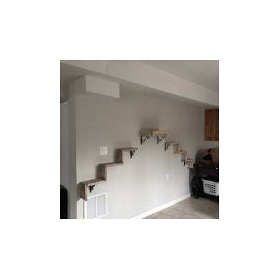 Artisan Made - (2) Floating Cat Wall Stairs + (1) Floating Cat Wall Bed