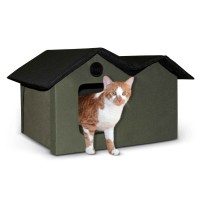 K&H Pet Products Unheated Outdoor Kitty House Extra Wide KH3971