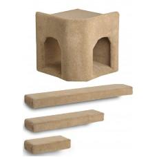 Kitty Corner Hideaway + 3 Ramps Cat Wall Climbing Package